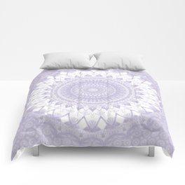 Boho Pastel Purple Mandala Comforters