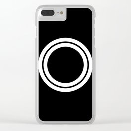 Minimal White 10 Clear iPhone Case