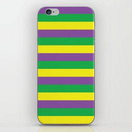 Mardi Gras Stripes iPhone Skin