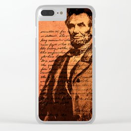 Abraham Lincoln and the Gettysburg Address Clear iPhone Case