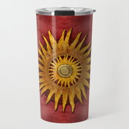 """Aztec Sun and pickled coral"" Travel Mug"
