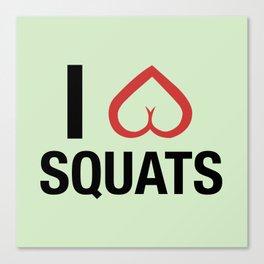 Squat Love Canvas Print
