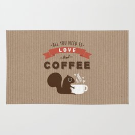 All You Need is Love and Coffee Rug