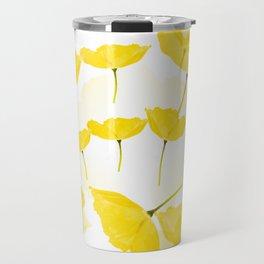 Light Yellow Poppies Spring Summer Mood #decor #society6 #buyart Travel Mug