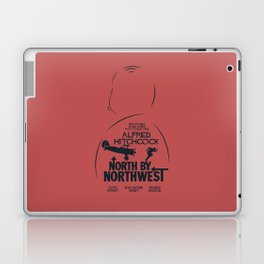 North by Northwest, Alfred Hitchcock, minimal movie poster, classic film, Cary Grant, alternative Laptop & iPad Skin
