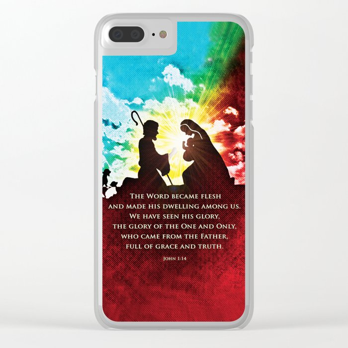 We Have Seen His Glory! Clear iPhone Case