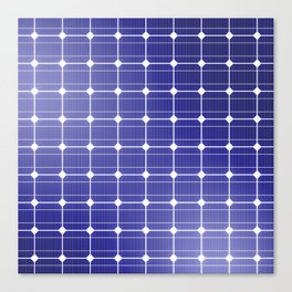 In charge / 3D render of solar panel texture Canvas Print