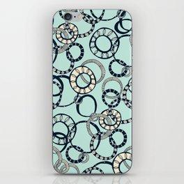 Honolulu hoopla pale blue iPhone Skin