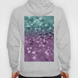 Aqua Purple MERMAID Girls Glitter #2 #shiny #decor #art #society6 Hoody
