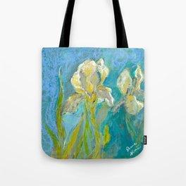 Yellow Irises Tote Bag