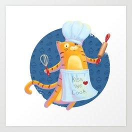 Baking with Cat: Step One Art Print