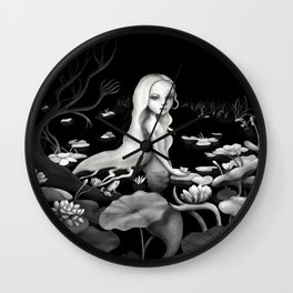 Woman in the water Wall Clock