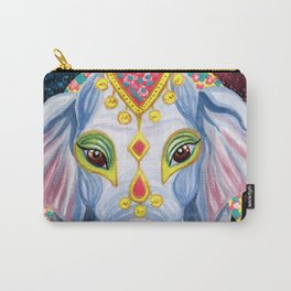Indian Holi Elephant Watercolor and Acrylic Painting Carry-All Pouch