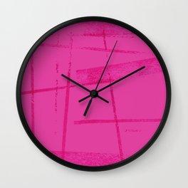 A hot pink mess Wall Clock