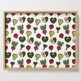 Heart shaped fruit and vegetables Serving Tray