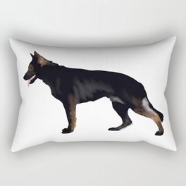 German Shepherd: Black Sable Rectangular Pillow