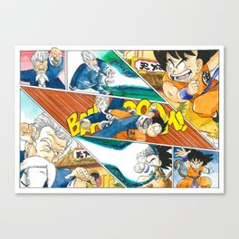 Goku Vs Master Roshi Canvas Print