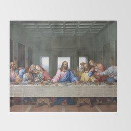 The Last Supper by Leonardo da Vinci Throw Blanket