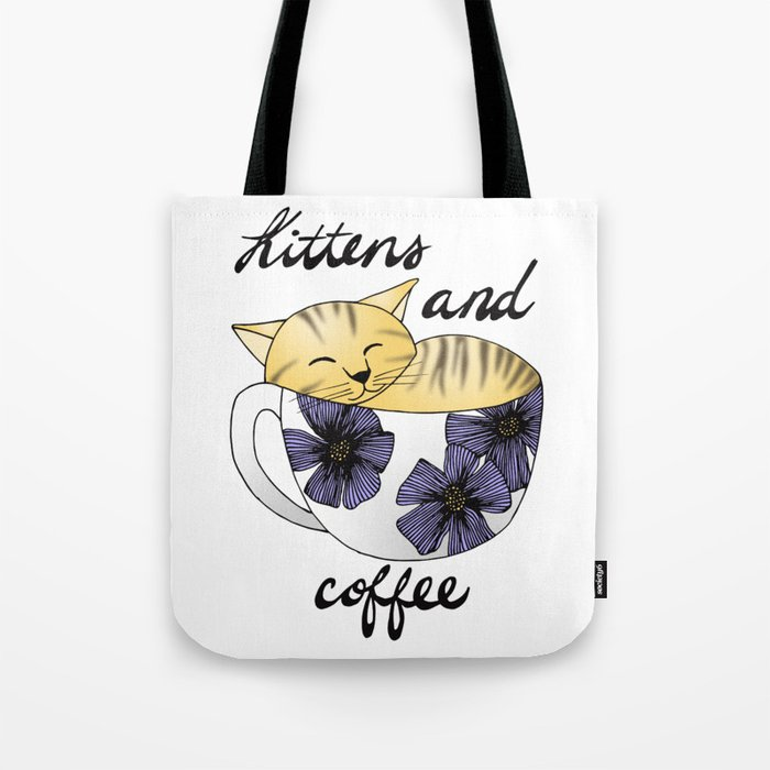 Kittens and Coffee Tote Bag