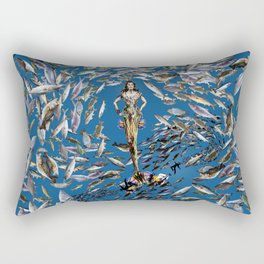 Mermaid in Monaco Rectangular Pillow