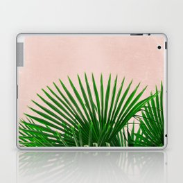 Palm Leaves On Pink Background Laptop & iPad Skin
