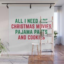 Christmas Movies Funny Xmas Quote Wall Mural