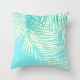 Palm Leaves Summer Vibes #4 #tropical #decor #art #society6 Throw Pillow