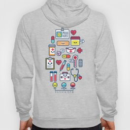 Proud To Be a Nurse Pattern / Blue Hoody