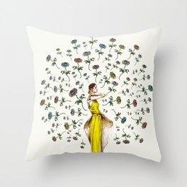 Paris Summer   The Flower Girl Throw Pillow