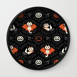 Spooky Kittens Wall Clock