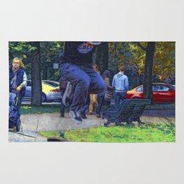 Kickflip  -  Skateboarder Rug