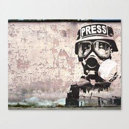 Spray paint - Press gas mask Canvas Print