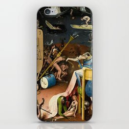 The Garden of Earthly Delights Bosch Hell Bird Man iPhone Skin