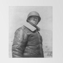 George Patton Throw Blanket