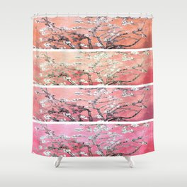 Vincent Van Gogh Almond Blossoms Panel Pink Peach Shower Curtain