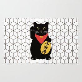 Maneki Neko - Lucky Cat - Fortune Cat Rug