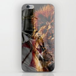 Templar Knight and Lion iPhone Skin