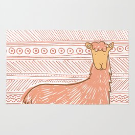 Llamas are Friends in Peru Rug