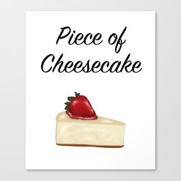 Piece of Cheesecake Canvas Print