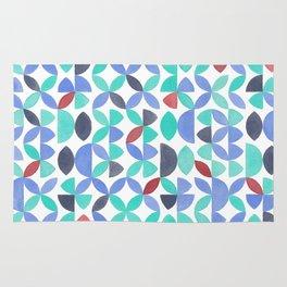 LITE GARDEN SALAD, hand-painted pattern by Frank-Joseph Rug