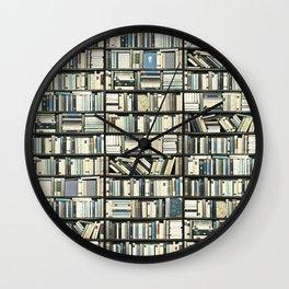 Bookshelf Art Fantasy Wall Clock