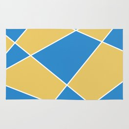 Geometric abstract - orange and blue. Rug