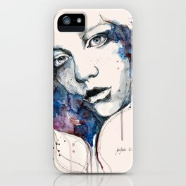Window, watercolor & ink painting iPhone Case