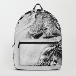 The mysterious eye of the tiger. WB. Square Backpack
