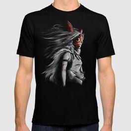 Miyazaki's Mononoke Hime Digital Painting the Wolf Princess Warrior Color Variation T-shirt