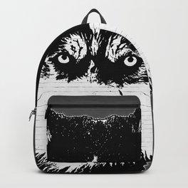 husky dog face grafiti spray art Backpack