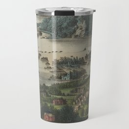 Vintage Lakes of Killarney Pictorial Map (1868) Travel Mug