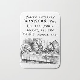 You're entirely bonkers Bath Mat