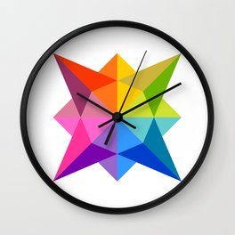 Celestial Rainbow Star Wall Clock