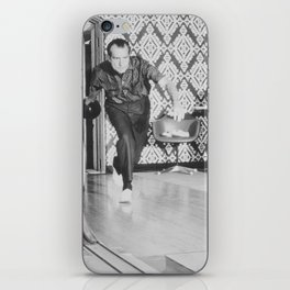 President Richard Nixon Bowling At The White House iPhone Skin